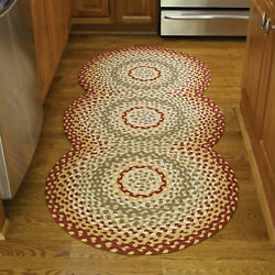 Kyпить Park Designs Cotton Braided Area Rug Red Green на еВаy.соm