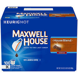 Kyпить Maxwell House House Blend K-Cup Coffee Pods (100 ct.) на еВаy.соm
