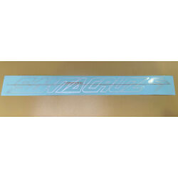 """Santa Cruz Bicycles Right Side Downtube Factory Decal 16"""" x 2"""" Silver N.O.S"""