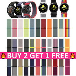 Nylon Sport Loop 20mm 22mm Watch Band Strap For Samsung Galaxy Active 2 S3 46mm