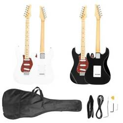 New 39'' Stylish Burning Fire Practice Electric Guitar Set with Bag