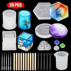 Kyпить Silicone Resin Molds Holder Epoxy Casting Art Coaster Cup Pen Candle Mould DIY на еВаy.соm