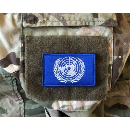 img-United Nations 8x5cm approx Patch Genuine UN Hook Loop Badge Military