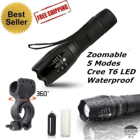 img-Tactical Police LED 20000LM Flashlight CREE XML-T6 Torch Lamp Light Waterproof