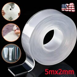 Kyпить 3.3ft Washable Nano Tape Double-Sided Reusable Traceless Invisible Adhesive Gel на еВаy.соm