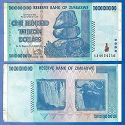 Kyпить 100 TRILLION DOLLAR ZIMBABWE AA 2008 SERIES P91 - XF Condition, FAST SHIP, COA на еВаy.соm