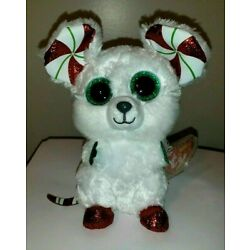 Ty Beanie Boos - CHIMNEY the Christmas Mouse (6 Inch) NEW MWMT