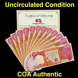 Kyпить IRAQ CURRENCY (IQD) - 25000 IRAQI DINAR -  25,000 UNCIRCULATED - COA AUTHENTIC  на еВаy.соm