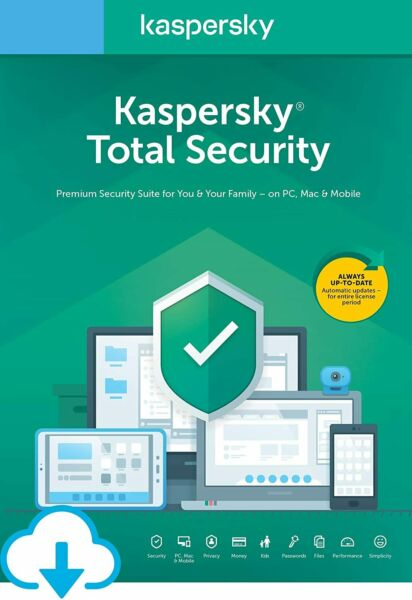 ItalieKaspersky Total Security 2020 1 Anno / Year - 1 PC  VERSION ESD