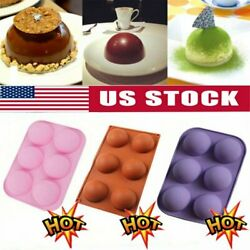 Kyпить ONE 6 Hole Semi-Sphere Round Silicone Mold Hot Chocolate Bomb Cake Baking Mould~ на еВаy.соm