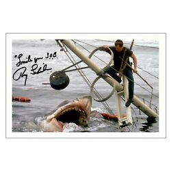 ROY SHEIDER Signed Autograph PHOTO Gift Signature Print JAWS Horror