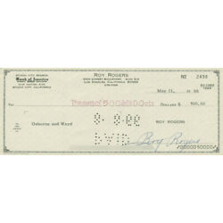 Kyпить ROY ROGERS - AUTOGRAPHED SIGNED CHECK 05/31/1966 на еВаy.соm