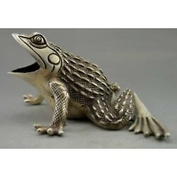 Kyпить Collectible Decorated Old Handwork Tibet Silver Carved Frog Statue на еВаy.соm