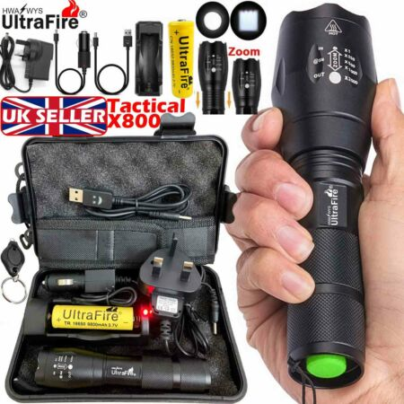 img-90000lm Ultrafire G700 CREE LED Tactical Flashlight Military Torch Headlamp Hike