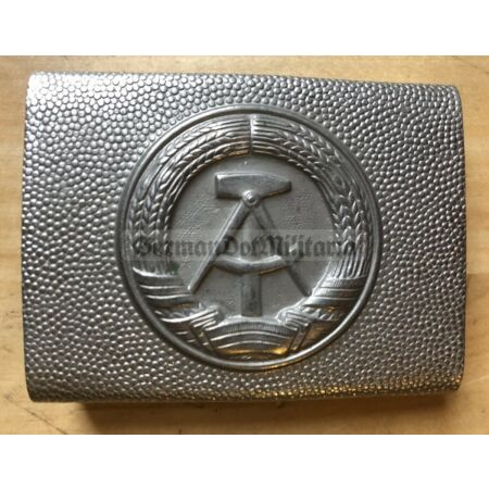 img-om515) East German belt buckle silver NVA VP VoPo Police Army Stasi Berlin DDR