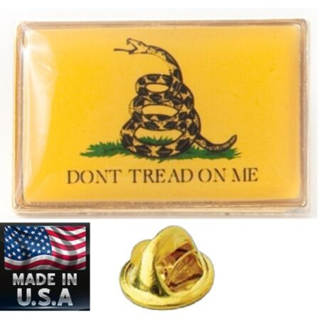 img-USA Made LAPEL HAT SHIRT PIN REBEL GADSDEN Dont Tread On Me TEA PARTY Snake USMC