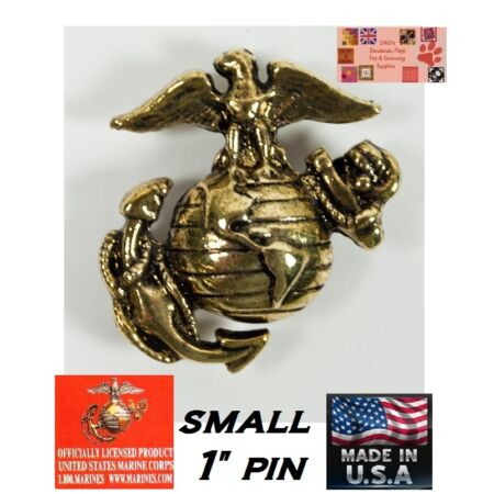 img-USA MADE Small USMC EGA GOLD LAPEL HAT COAT SHIRT JACKET PIN U S MARINE CORPS