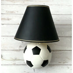 Kyпить Pottery Barn Kids Soccer Ball Table Lamp Black White 18in на еВаy.соm