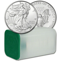 Kyпить 2021 American Silver Eagle 1 oz $1 - 1 Roll - Twenty 20 BU Coins in Mint Tube на еВаy.соm