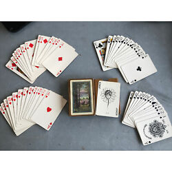 Kyпить VINTAGE A. DOUGHERTY MARGUERITE No.130 PLAYING CARDS  Early 1900's Linoid Finish на еВаy.соm