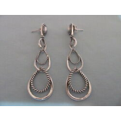 Kyпить NEW CAROLYN POLLACK STERLING ROPE SMOOTH ARTICULATED LONG DANGLE EARRINGS  на еВаy.соm