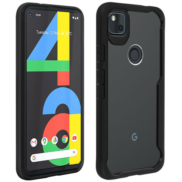 FrankreichCover Google Pixel 4A Shockproof Hard Back Rigid Back Contour  Clear