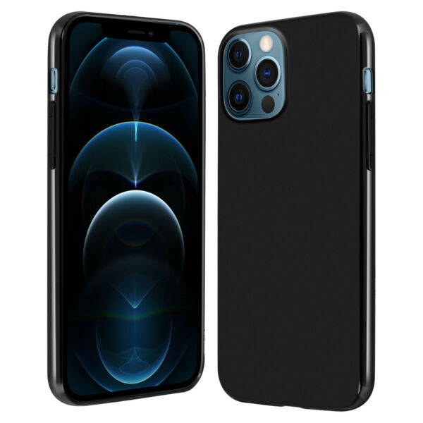 FrankreichCase Apple iPhone 12/12 Pro  Flexible Back Matte Contour glossy-black