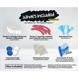 Kyпить DIY Denture Kit - Do It Yourself Homemade Dentures, Full or Partial False Teeth на еВаy.соm