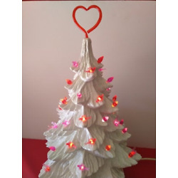 Kyпить  50 Valentine Bulbs Red & Pink Lights w/ Heart Topper for Ceramic Christmas Tree на еВаy.соm