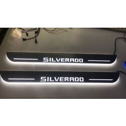 Kyпить LED Door Sill Scuff Light For  Chevy Silverado 2 pc for front на еВаy.соm