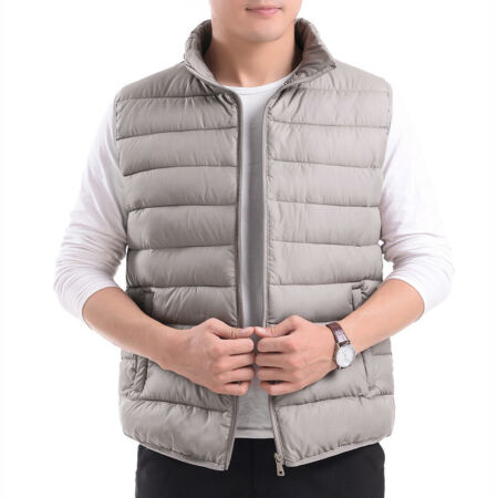 img-Men Puffer Waistcoat Quilted Padded Gilet Fit Winter Warm Sleeveless Zip Vest