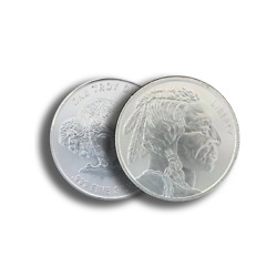 Kyпить 1 oz .999 Silver Buffalo AG Round BU - Buffalo Indian Stamped - IN STOCK!! на еВаy.соm