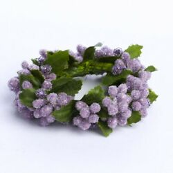 Kyпить Group of 4 Iced Purple and Lavender Berry Mini Candle Rings or Napkin Rings на еВаy.соm
