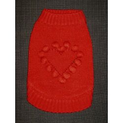 NEW Blueberry Pet Fair Isle/Lopi Pull-Over Interlock Dog Sweater Red Heart 8''