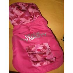 preowned small DOG COAT pink DUCK DYNASTY adorable camo