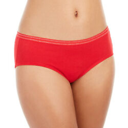 Jenni Pretty Cotton Hipster Panties Color Red Pack of 2 Color Red MSRP $16