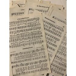 Kyпить 50 Vintage Hymnal Pages Sheet Music Crafting Scapbooking Decor Free Shipping! на еВаy.соm