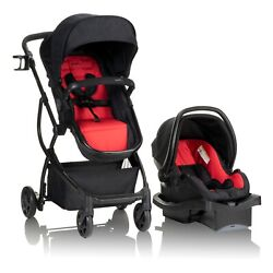 Kyпить Evenflo Urbini Omni Plus Travel System with LiteMax Infant Car Seat, Classic Red на еВаy.соm