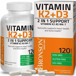 Kyпить Vitamin K2 (MK7) with D3 Supplement Bone and Heart 120 Count (Pack of 1)  на еВаy.соm