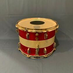 "Kyпить 1966 Ludwig Red & Silver Sparkle Marching Snare Drum 10"" x 14"" S/N 317173 на еВаy.соm"