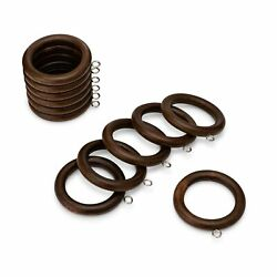 2.25 Inch Wood Curtain Rings Inner Diameter Comes in 5 Finishes, Set of 12