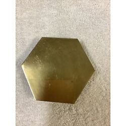 Kyпить BRASS FOOTED OCTAGON CANDLE HOLDER 5' X4.5