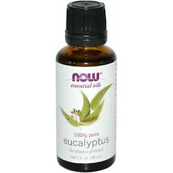 NOW  Eucalyptus Oil - 1 oz. (7545) Made in USA, Clearance for stained/dented