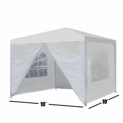 Heavy Duty Canopy Party 10''x10'' Outdoor Wedding Tent Gazebo with 4 Side Walls