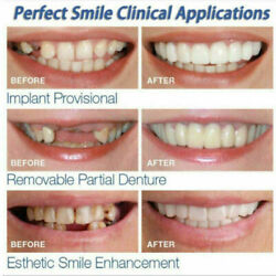 Kyпить Smile Fake Teeth Top And Bottom Cosmetic Veneers Instant Smile Braces Snap On на еВаy.соm