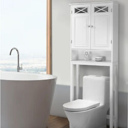 Kyпить Over The Toilet Space Saver Cabinet Storage with Tower Rack Shelf White на еВаy.соm