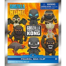 Kyпить Godzilla vs Kong 3D Foam Bag Clips, Multi Color на еВаy.соm