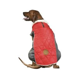 Fetchwear Red Quilted Jacket With Sherpa Lining Size XL