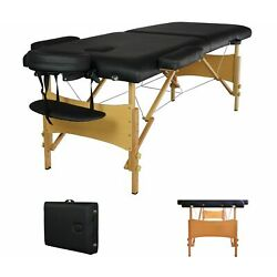 Kyпить Portable Massage Table w/Free Carry Case Chair Bed Spa Facial 2