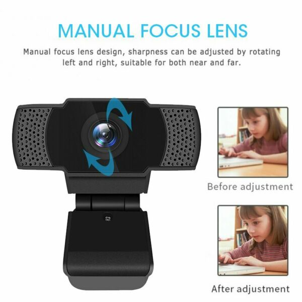 Hayes,United Kingdom 2.0 HD 1080P Webcam Camera for Computer PC Laptop Video Microphone Meeting